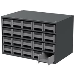19-Series Steel Cabinet w/ 20 Drawers, Gray (19320)