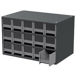 19-Series Steel Cabinet w/ 15 Drawers, Gray (19715)