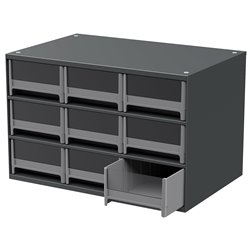 19-Series Steel Cabinet w/ 9 Drawers, Gray (19909)
