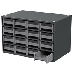 19-Series Steel Cabinet w/ 16 Drawers, Gray (19416)
