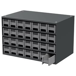 19-Series Steel Cabinet w/ 28 Drawers, Gray (19228)