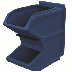 Easy Flow Gravity Hopper 16 x 8-1/4 x 16, Blue w/ Divider (31620BLUE)