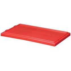 Lid for Nest & Stack Totes 35180/35185, Red (35181RED)