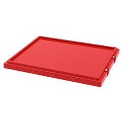Lid for Nest & Stack Totes 35190/35195, Red (35191RED)