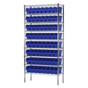Stackable Storage Bin Racks | Pick Rack Systems | Wire Shelving