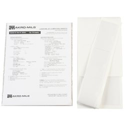 Card Stock Holder w/ Adhesive Back, 25 Pack, Clear (29304)